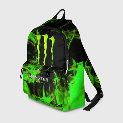 Рюкзак 3D с принтом MONSTER ENERGY, вид спереди #2