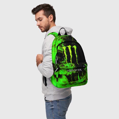 Рюкзак 3D с принтом MONSTER ENERGY, фото на моделе #1
