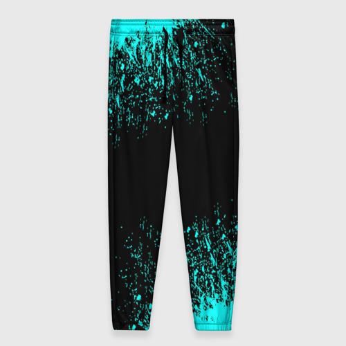 Женские брюки 3D с принтом Краска, вид спереди #2