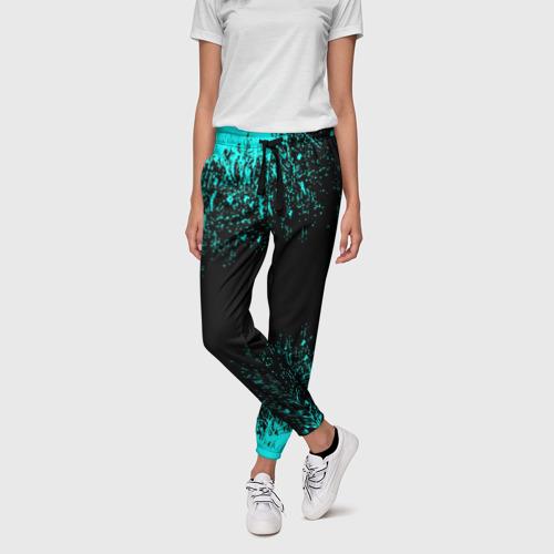 Женские брюки 3D с принтом Краска, фото на моделе #1