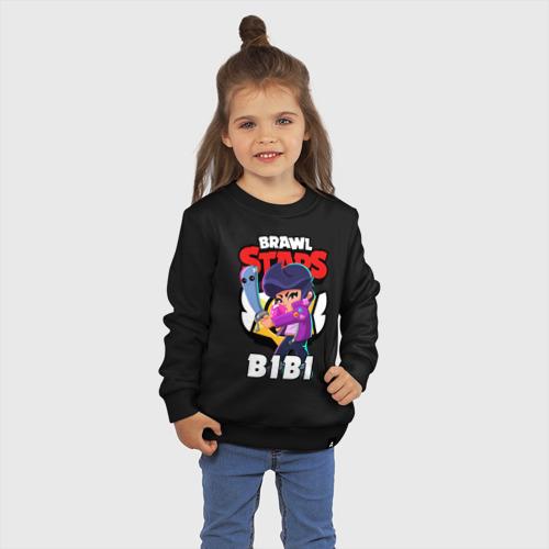 Детский свитшот хлопок с принтом BRAWL STARS BIBI   БРАВЛ СТАРС БИБИ, фото на моделе #1