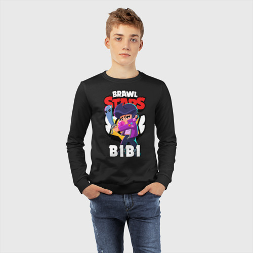 Детский свитшот хлопок с принтом BRAWL STARS BIBI   БРАВЛ СТАРС БИБИ, фото #4