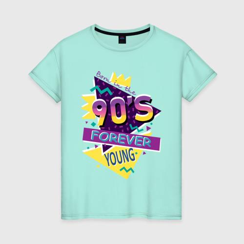 Женская футболка Рожденный в 90х