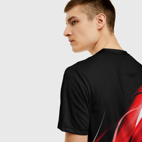 Мужская 3D футболка с принтом CHICAGO BULLS   ЧИКАГО БУЛЛС, вид сзади #2