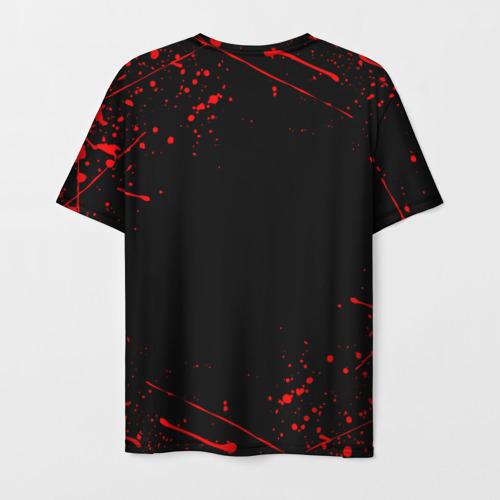 Мужская 3D футболка с принтом GOD OF WAR, вид сзади #1