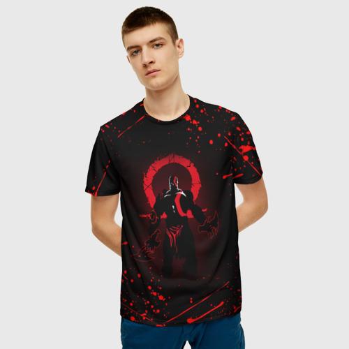 Мужская 3D футболка с принтом GOD OF WAR, фото на моделе #1
