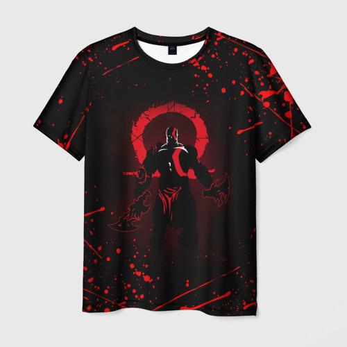 Мужская 3D футболка с принтом GOD OF WAR, вид спереди #2