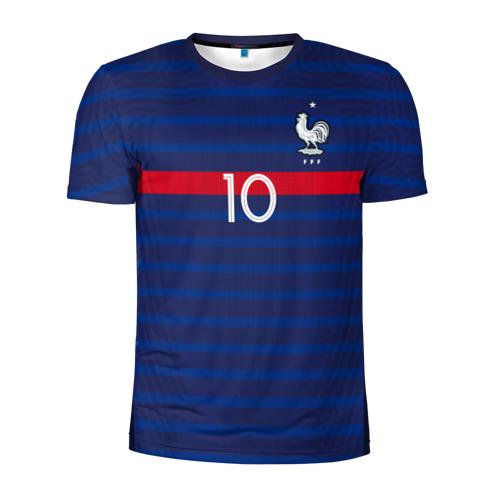 Мужская футболка 3D спортивная Mbappe home EURO 2020