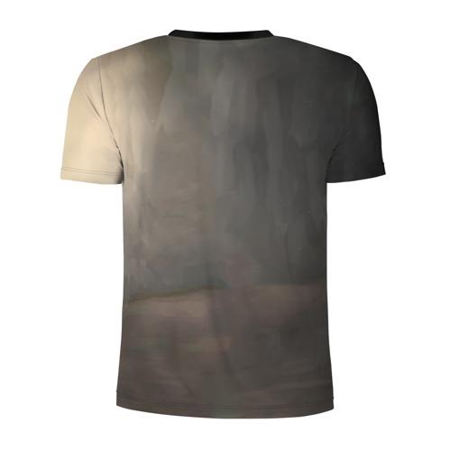 Мужская футболка 3D спортивная с принтом МИЛЫЙ ВО ФРАНКСЕ, вид сзади #1