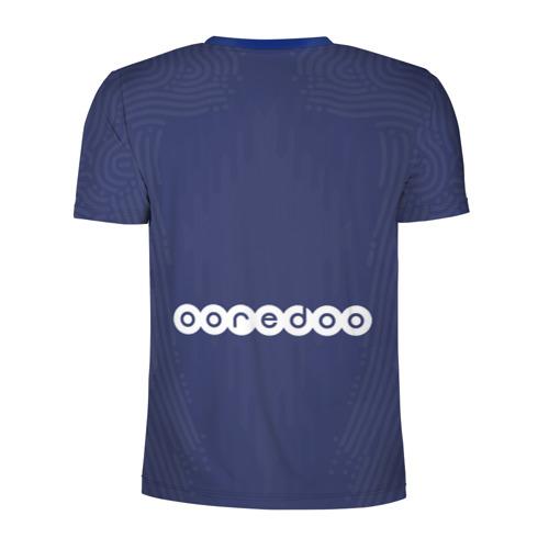 Мужская футболка 3D спортивная с принтом PSG home 20-21, вид сзади #1