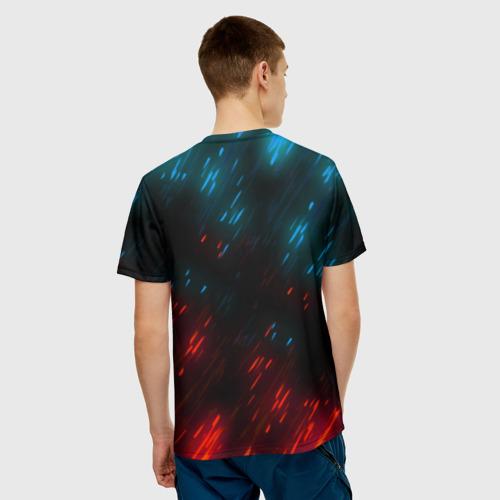 Мужская 3D футболка с принтом CYBERPUNK 2077 SAMURAI, вид сзади #2