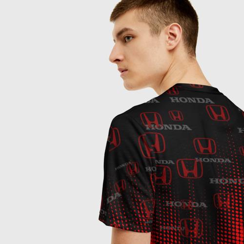 Мужская 3D футболка с принтом HONDA, вид сзади #2