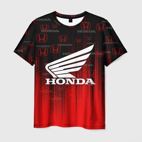 Мужская 3D футболка с принтом HONDA, вид спереди #2