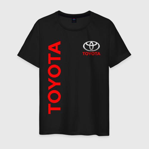 Мужская футболка с принтом TOYOTA | ТОЙОТА, вид спереди #2