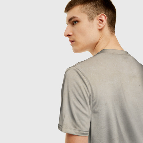 Мужская 3D футболка с принтом Ink, вид сзади #2