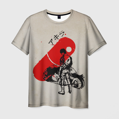 Мужская 3D футболка с принтом Ink, вид спереди #2