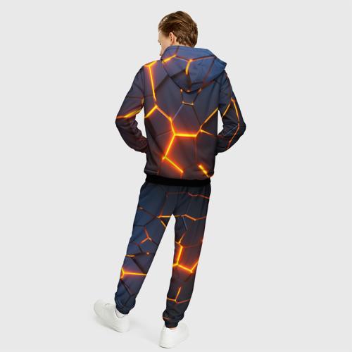 Мужской 3D костюм с принтом TOYOTA   ТОЙОТА, вид сзади #2
