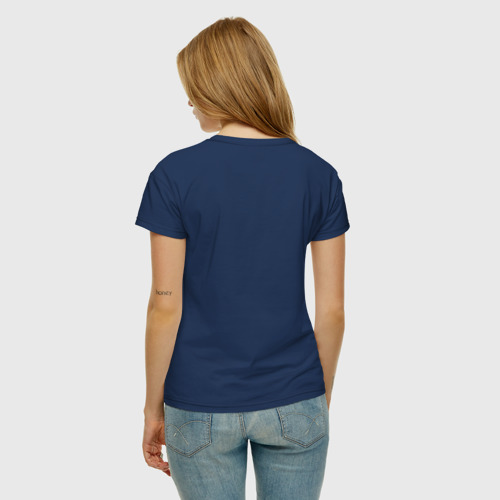 Женская футболка с принтом Палетка теней, вид сзади #2