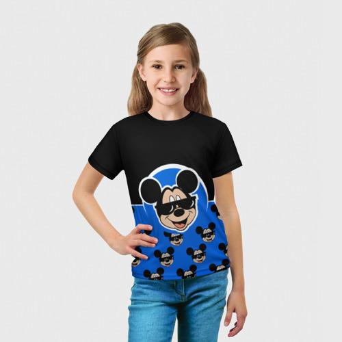 Детская 3D футболка с принтом DisneyМикки Маус, вид сбоку #3