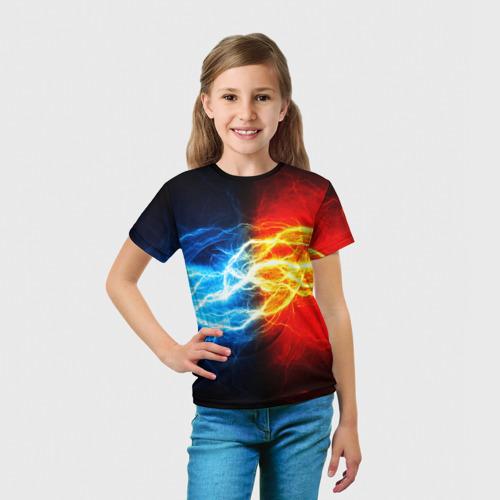 Детская 3D футболка с принтом БИТВА МОЛНИЙ, вид сбоку #3