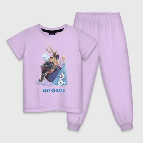 Детская пижама с принтом Холодное сердце, вид спереди #2