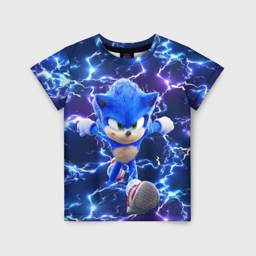 Детская 3D футболка Sonic | Соник