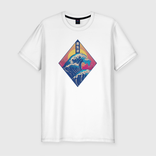 Мужская футболка премиум Эстетика большой волны