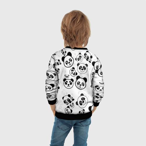Детский 3D свитшот с принтом Панды, вид сзади #2