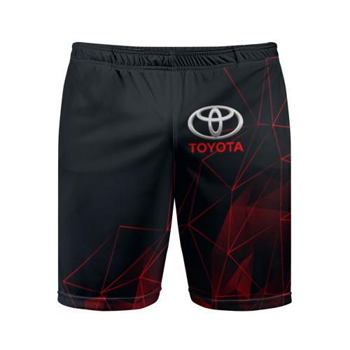 Мужские шорты 3D спортивные с принтом TOYOTA, вид спереди #2