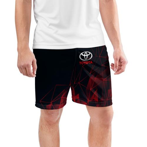 Мужские шорты 3D спортивные с принтом TOYOTA, фото на моделе #1