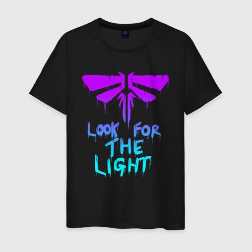 Мужская футболка с принтом ЦИКАДЫ LOOK FOR THE LIGHT, вид спереди #2