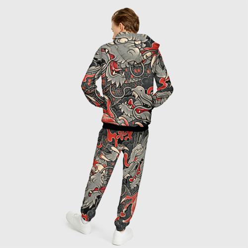 Мужской 3D костюм с принтом CYBERPUNK2077(SAMURAI), вид сзади #2