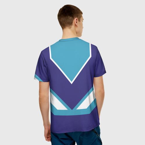 Мужская 3D футболка с принтом Виталик - банка сгущенки, вид сзади #2