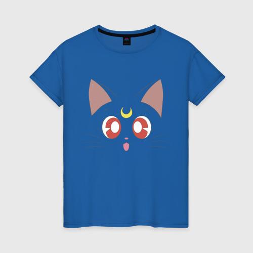 Женская футболка с принтом Sailor Moon Luna, вид спереди #2