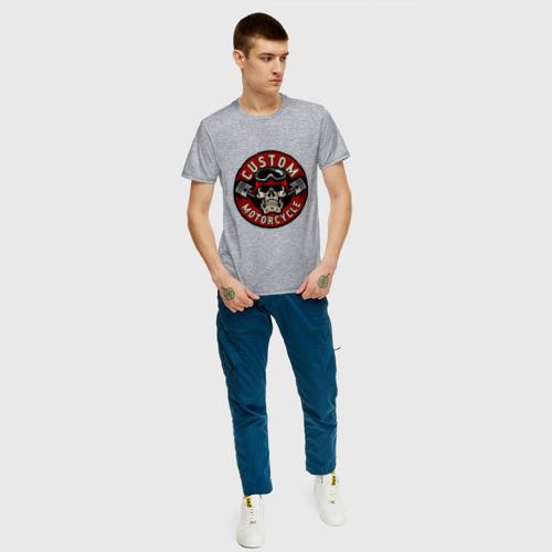 Мужская футболка с принтом CUSTOM MOTORCYCLE | ИЗГОТОВЛЕННЫЙ НА ЗАКАЗ МОТОЦИКЛ (Z), вид сбоку #3