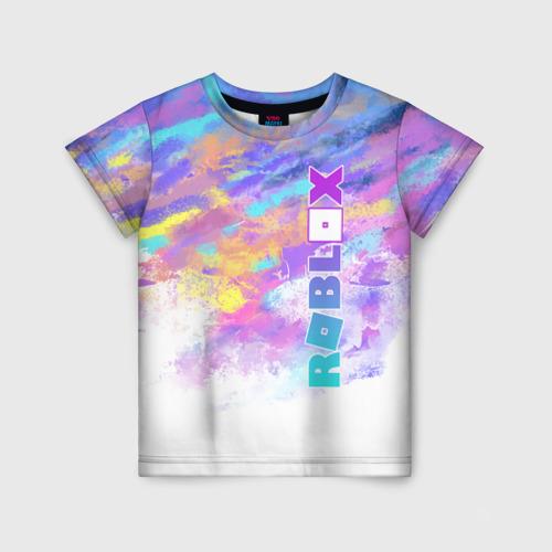 Детская 3D футболка с принтом Roblox, вид спереди #2