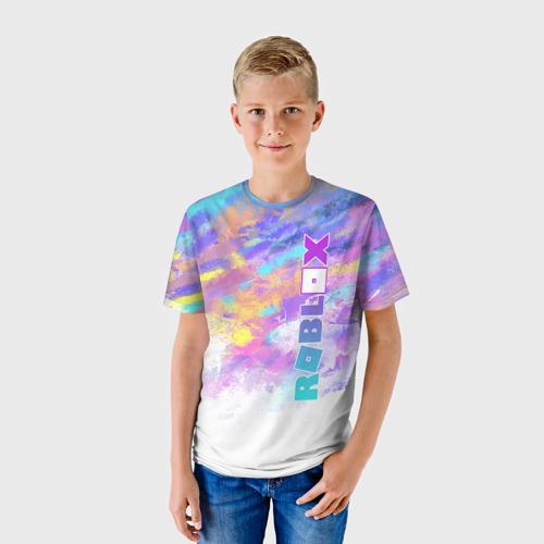 Детская 3D футболка с принтом Roblox, фото на моделе #1