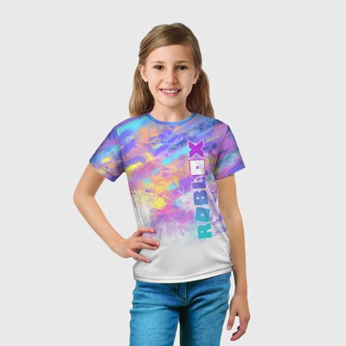 Детская 3D футболка с принтом Roblox, вид сбоку #3
