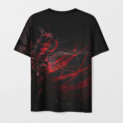 Мужская 3D футболка с принтом DIGITAL 3D, вид сзади #1