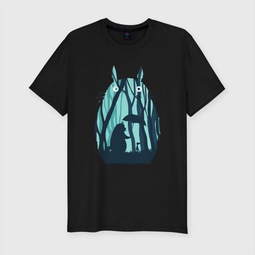 Мужская футболка премиум с принтом Totoro, вид спереди #2
