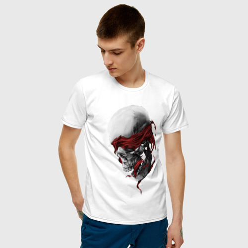 Мужская футболка с принтом Череп | Skull, фото на моделе #1