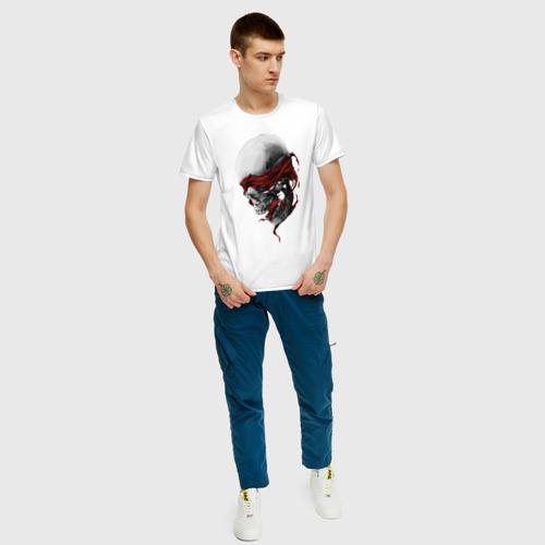Мужская футболка с принтом Череп | Skull, вид сбоку #3