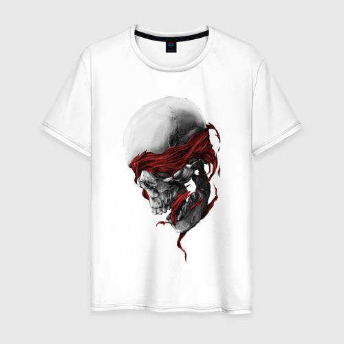Мужская футболка с принтом Череп | Skull, вид спереди #2
