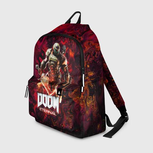 Рюкзак 3D с принтом Doom Eternal   Дум Этернал, вид спереди #2