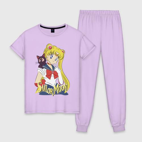 Женская пижама хлопок Sailor Moon & Luna