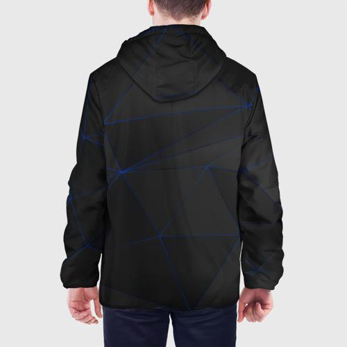 Мужская куртка 3D с принтом VOLVO, вид сзади #2
