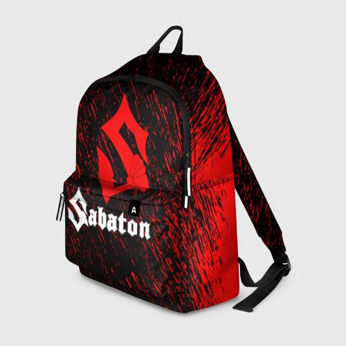 Рюкзак 3D с принтом Sabaton, вид спереди #2