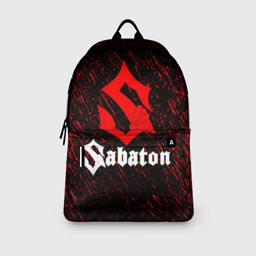 Рюкзак 3D с принтом Sabaton, вид сбоку #3