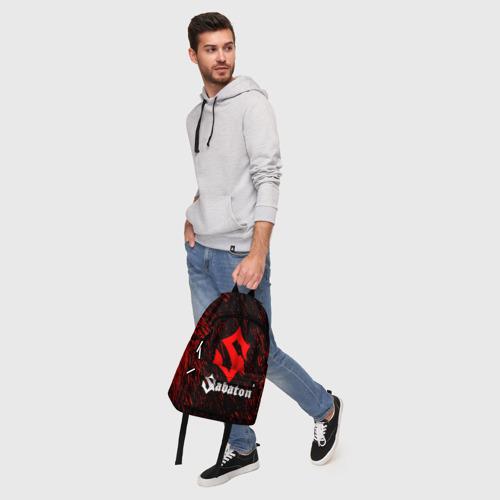 Рюкзак 3D с принтом Sabaton, фото #5