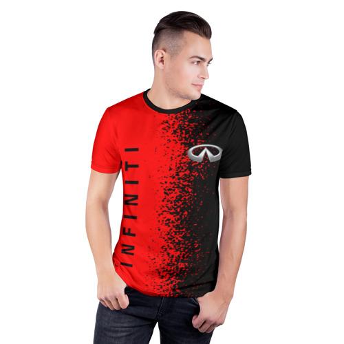 Мужская футболка 3D спортивная с принтом INFINITI, фото на моделе #1